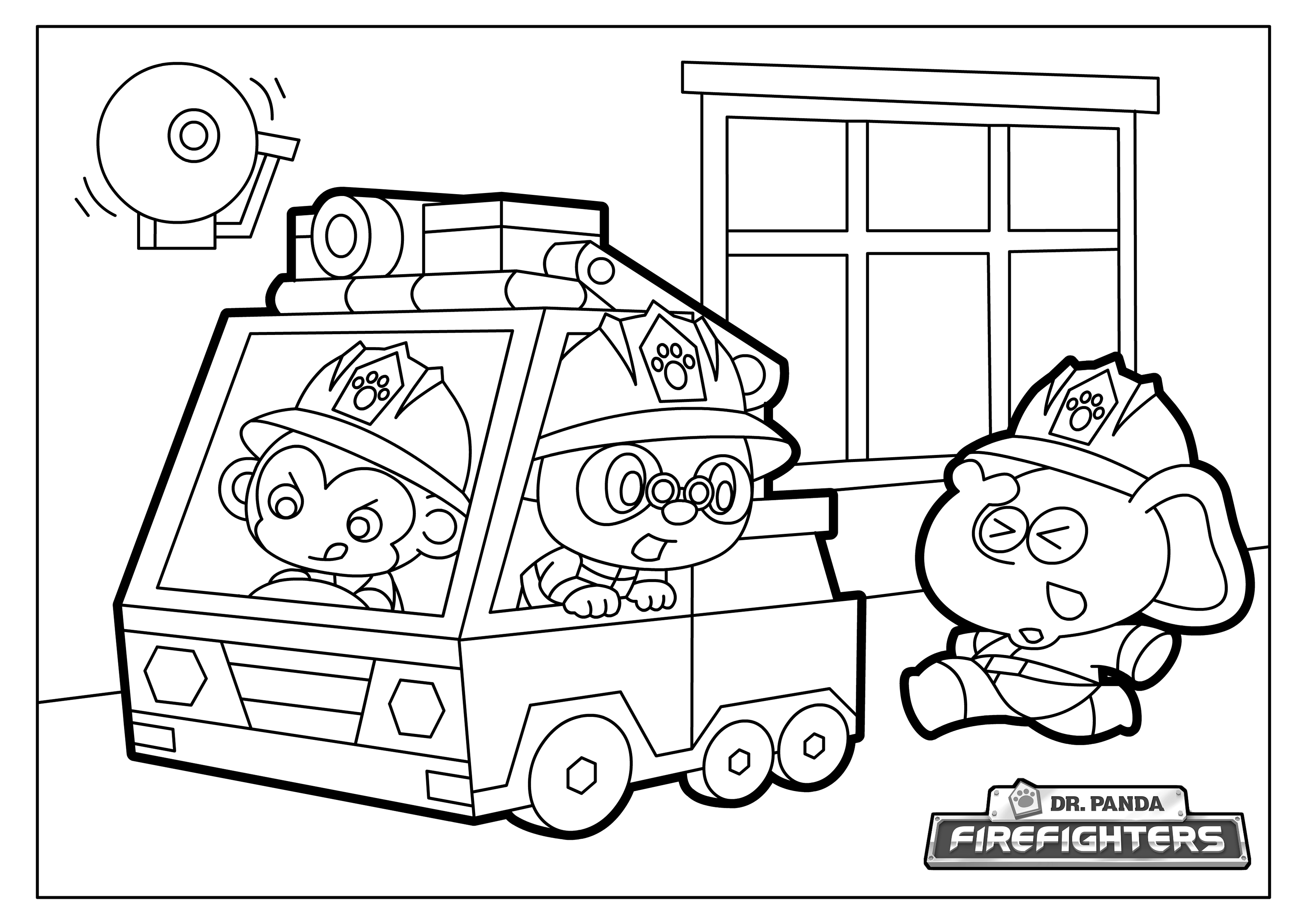 dr panda firefighters coloring pages dr panda games